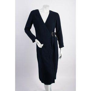 Massimo Dutti Womens Midi Wrap Dress US 6 EU 38